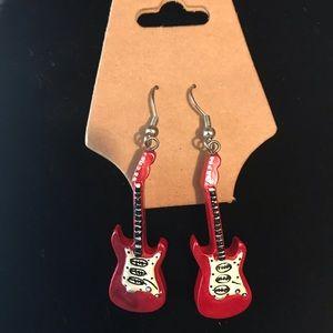 🎸 Red Fender guitar earrings 🎸
